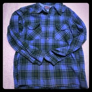 Vintage Men's Pendleton Plaid Wool Button Shirt